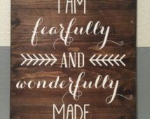 fearfully and wonderfully made canvas - Google Search