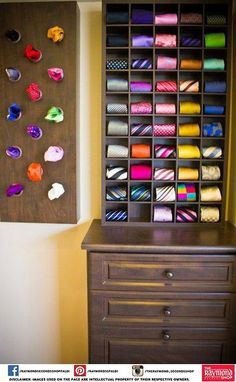 Tie and pocket square storage