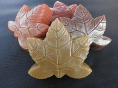 Holiday Autumn Harvest Leaf  Soaps in Pumpkin by PureHeartSoap