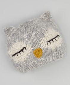 Gray Owl Beanie//