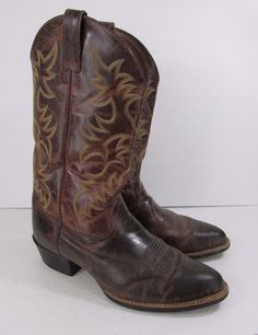 Ariat Rambler Men&39s Wicker Brown Wide Square Toe Western Boots