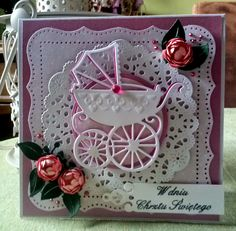Scrapbooking - inspiration and gallery: Card for baptism - pink