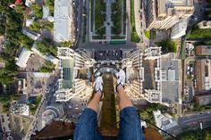 Vue du haut des tours des sept soeurs à Moscou.