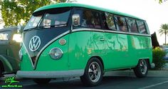 VW Bus - Love the GREEN !!