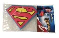 DC Comics Superman Shield Lemon Scent Auto Office  Air Freshener #DCComics