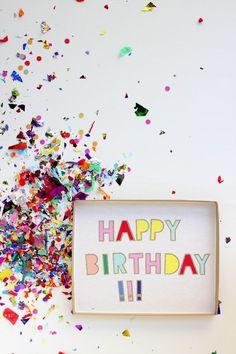 DIY: Bunte Nachricht  zum Geburtstag, superschnell & supereasy mit Konfetti *** DIY Happy Birthday message