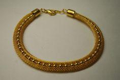 VINTAGE  GOLD TONE MESH METAL  BRACELET UNWORN in Jewelry & Watches, Vintage & Antique Jewelry, Costume, Retro, Vintage 1930s-1980s, Bracelets   eBay