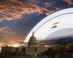 What Landscape Photos Would Look Like if Earth Had a Ring Like Saturns washington by Ron Miller via @PetaPixel on Pinterest
