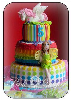 fairy cakes | Pink Sugar: Rainbow Unicorn & Fairy Birthday Cake...
