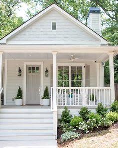 Exterior Color Schemes, Design Exterior, Exterior Paint Colors For House, Paint Colors For Home, Cottage Exterior Colors, Siding Colors For Houses, Grey Exterior Paints, Houses With Shutters, Exterior Paint Ideas