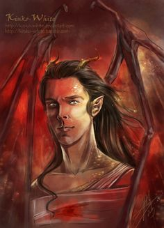 smaug the dragon benedict cumberbatch Fantastic 'The Hobbit' Artwork Featuring Benedict Cumberbatch's Smaug, Richard Armitages Thorin Thranduil, Legolas, Tolkien, 32 Year Old Woman, You Shall Not Pass, Movie Characters, Middle Earth, White Art, Lotr