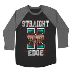 Straight Edge Drug Free Baseball Triblend T-Shirt