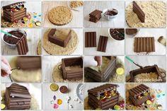 treasure chest birthday cake instructions