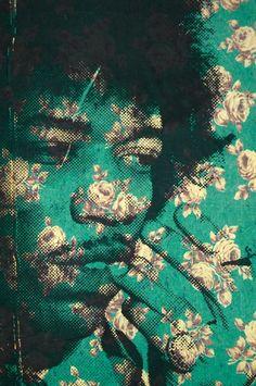 Jimi Hendrix flower pattern