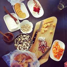 For Veterans Day we went to the shooting range, one of Aaron's favorite activities. I made up a charcuterie board. one of my favorite t. Charcuterie Cheese, Charcuterie Board, Meat And Cheese, Veterans Day, Entertaining, Party, Food, Cheese, Bon Appetit