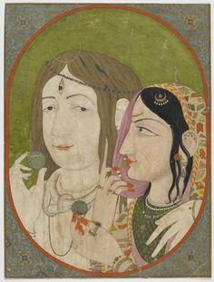 Shiva-Parvati with datura fruits