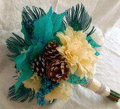 Winter Wedding Blissful Bouquet. Via Etsy by: 3Mimis