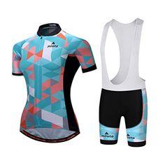 Bib Blue Women/'s Cycling Set Cycle Jersey and Shorts Ladies Cycling Short Kit