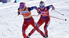Therese Johaug ja Heidi Weng ovat Norjan hiihdon supertähtiä. Kuva: ANDRE PICHETTE.