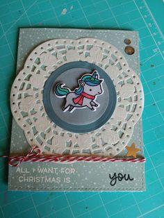 @lawnfawn #unicorn #christmascard