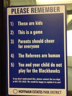 Spelregels voor toeschouwers (ouders)
