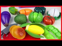 Baby Fun 2: Slicing Fruits and Vegetable Velcro Toys Cutting P...