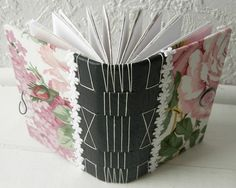 Handmade Journals, Smash Book, Altered Books, Fabric Swatches, Fabric Scraps, Junk Journal, Mini Albums, Recycling, Cross Stitch