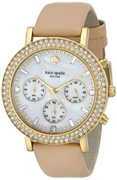 Kate Spade New York Women's Metro Grand Analog Display Japanese Quartz Beige Watch Color would go with anything Looks Chic, Looks Style, Kate Spade New York, Jewelry Accessories, Fashion Accessories, Jewelry Watches, Women's Watches, Analog Watches, Beautiful Watches