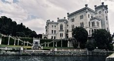 Miramare Castle near Trieste Trieste, Costa, Mansions, House Styles, Italia, Park, Fancy Houses, Mansion, Manor Houses