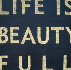 'life is beauty full' wooden sign by box brownie trading | notonthehighstreet.com
