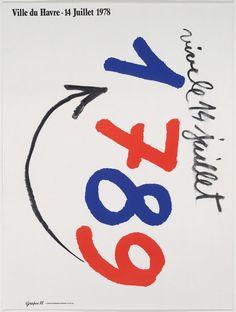 """Grapus. """"VIVRE LE 14 JUILLET/ 1978"""". 1978"""