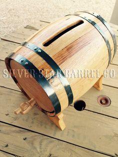 10 Liter Wedding Card Box With Free Engraving By Silverstarbarrels Wine Barrel