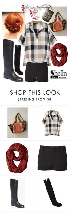 """""""Buffalo Check You Later"""" by rachael-aislynn ❤ liked on Polyvore featuring CLARAMONTE, Alice + Olivia, Madewell, Free Press, Winter, plaid, Sheinside and shein"""