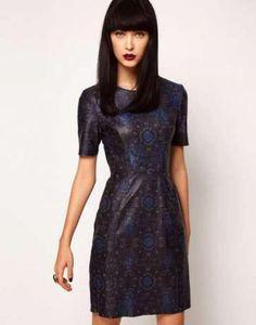 Цена: 4000 грн. - Asos leather dress by markus lupfer ASOS, #1339119, Цвета: Чёрный, Синий, Размер: 38 / 10 / M. Купить в Шафе недорого