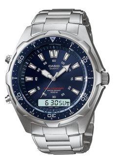 Casio Men's AMW320RD-2AV Sport Alarm Ana-Digi Blue Dive Watch Casio. $120.63
