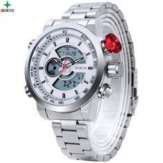 776181bbaf6 NORTH Watch Men Luxury Brand Sport LED Digital Watch Stainless Steel  Waterproof Quartz Wristwatch Male Relogio Masculino