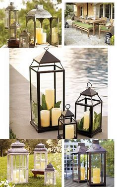 Veronica! If I can find big enough lanterns I'm going to mix these with the vases and alternate tables!