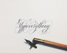 Spencerian by Joan Quirós #calligraphy #typostrate #typography