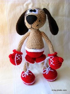 This is a crochet pattern with pictures for making a toy, not a toy itself. The…