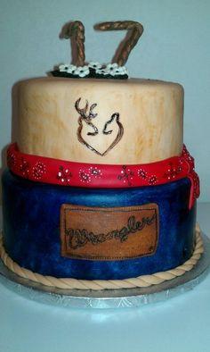 Country girl birthday - by nonniecakes @ CakesDecor.com - cake decorating website