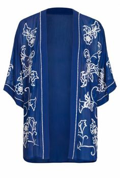 Embroidered Kimono Cover Up  at Long Tall Sally, your number one fashion retailer for tall women's clothing and footwear #tallgirls #tallwomen #tallfashion