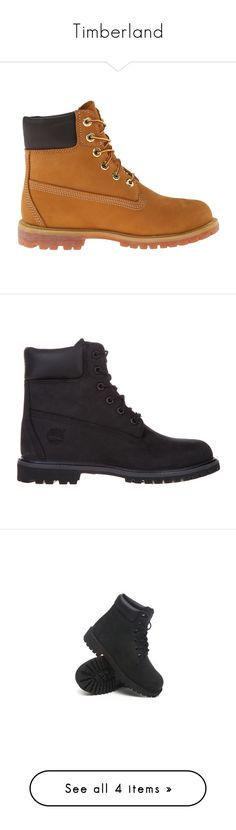 """""""Timberland"""" by aniahrhichkhidd ❤ liked on Polyvore featuring shoes, boots, s h o e s, sapatos, timberland shoes, timberland footwear, timberland boots, black nubuck, women and faux-fur boots"""