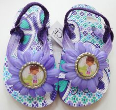 doc mcstuffins | Doc McStuffins Inspired Hand Decorated Flip Flops Shoes Size 10 - 11 ...