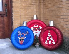 Handmade Christmas Decorations, Xmas Decorations, Holiday Ornaments, Holiday Crafts, Christmas Projects, Christmas Fun, Tire Craft, Tyres Recycle, Old Tires