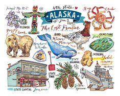 The last Frontier. Alaska Travel, Alaska Trip, Alaska Cruise, Usa Travel, Dazzle Camouflage, Visit Alaska, Native Beadwork, Beautiful Posters, Bullet Journal Inspiration