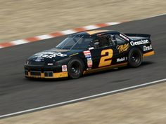 Midnight, the name Rusty Wallace give this car in which he had great success. Sport 2, Motor Sport, Outlaw Racing, Rusty Wallace, Nascar Race Cars, Kyle Busch, Dirt Track Racing, Paint Schemes, Car And Driver