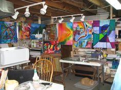 a modest workspace