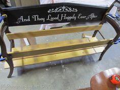 NapadyNavody.sk   Ako si vyrobiť z dvoch starých stoličiek, krásnu lavičku