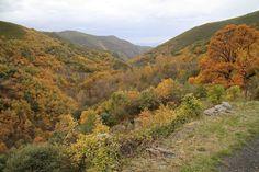Las montañas bercianas en otoño
