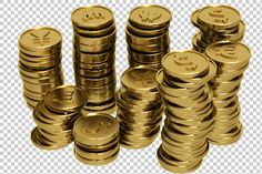 Check out Coins - 3D Render PNG by TrueMitra Designs on Creative Market